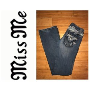 Miss me boot cut jeans with camo patches
